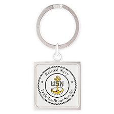 Navy-Retired-CPO-Logo.gif Square Keychain