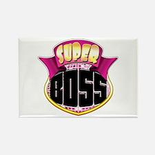 Pink Super Boss Rectangle Magnet