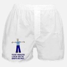 Navy-Humor-You-Bet-Male-PO2-Poster.gi Boxer Shorts