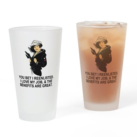Navy-Humor-You-Bet-Lady-PO1.gif Drinking Glass