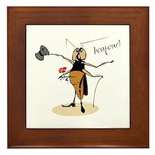 Funny Bug Framed Tile