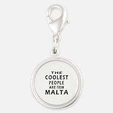 The Coolest Mali Designs Silver Round Charm