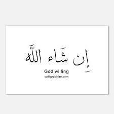 God Willing Insha'Allah Arabic Postcards (Package