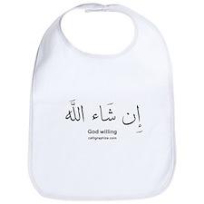 God Willing Insha'Allah Arabic Bib