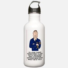 Navy-Humor-Three-First Water Bottle