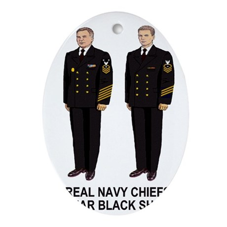 Navy-Humor-Real-Chiefs-Poster-E9.gif Oval Ornament