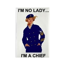 Navy-Humor-Im-A-Chief-Poster-E9.g Rectangle Magnet