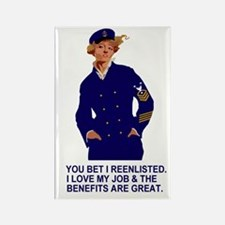 Navy-Humor-You-Bet-Lady-Master-Ch Rectangle Magnet