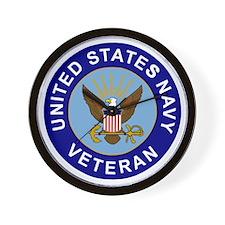 Navy-Veteran-CN.gif Wall Clock