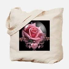 Pink Rose Globe Tote Bag