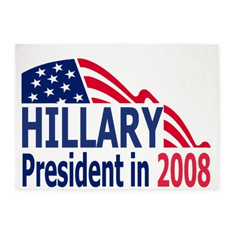 Hillary-2008-Small-Poster.gif 5'x7'Area Rug
