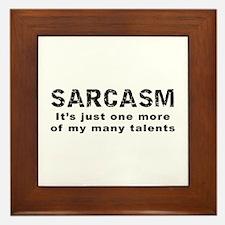 Sarcasm - Funny Saying Framed Tile