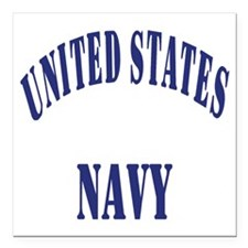 "Navy-Logo-11-Blue-Bonnie Square Car Magnet 3"" x 3"""