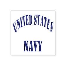 "Navy-Logo-11-Blue-Bonnie.gi Square Sticker 3"" x 3"""