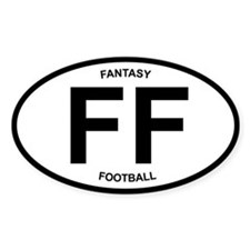 Fantasy Football - oval desig Oval Bumper Stickers