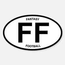 Fantasy Football - oval desig Oval Decal