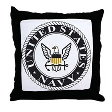 Navy-Logo-15.gif Throw Pillow