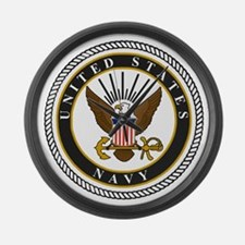 Navy-Logo-9-black.gif Large Wall Clock