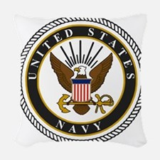 Navy-Logo-9-black.gif Woven Throw Pillow