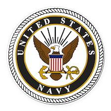 Navy-Logo-9-black.gif Round Car Magnet