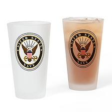 Navy-Logo-9-black.gif Drinking Glass
