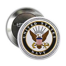 """Navy-Logo-9-black.gif 2.25"""" Button"""