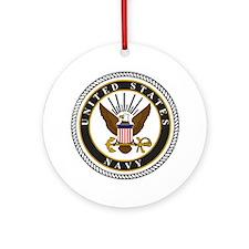 Navy-Logo-9-black.gif Round Ornament
