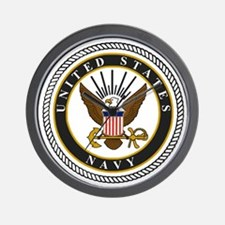 Navy-Logo-9-black.gif Wall Clock