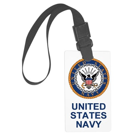 Navy-Journal-2.gif Large Luggage Tag