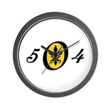 Fleur 504, gold Wall Clock