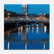Dublin at night Tile Coaster