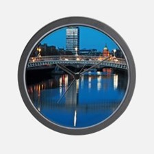 Dublin at night Wall Clock
