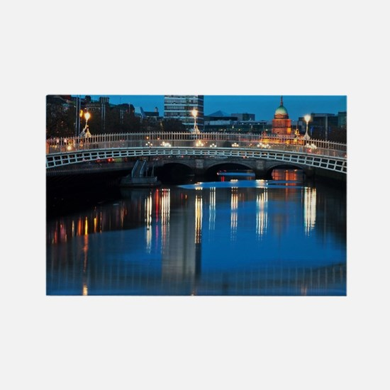 Dublin at night Rectangle Magnet