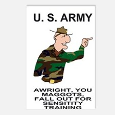 Army-Humor-Sensitivity-Po Postcards (Package of 8)