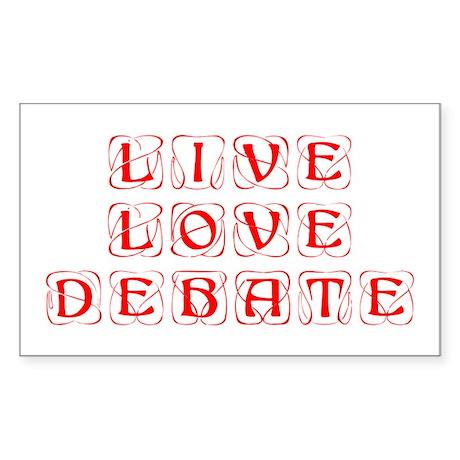 live-love-debate-KON-RED Sticker
