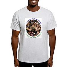 Thank a Teacher, & a Soldier Ash Grey T-Shirt