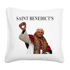 Saint-Benedict-Shirt-Front-A. Square Canvas Pillow