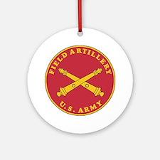 Army-Artillery-Branch-Plaque-Bonnie Round Ornament