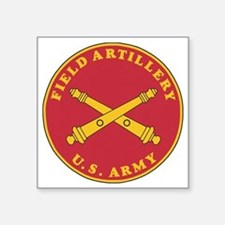 "Army-Artillery-Branch-Plaqu Square Sticker 3"" x 3"""