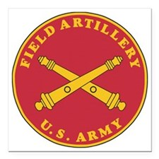 "Army-Artillery-Branch-Pl Square Car Magnet 3"" x 3"""