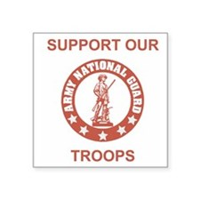 "ARNG-Support-Salmon.gif Square Sticker 3"" x 3"""
