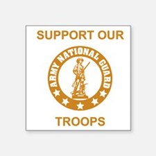 "arng-support-gold.gif Square Sticker 3"" x 3"""