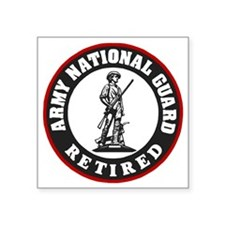 "ARNG-Retired-Red-Black.gif Square Sticker 3"" x 3"""