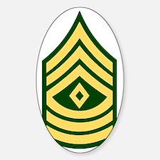 army-1sg-bonnie-y.gif Sticker (Oval)