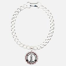 ARNG-Veteran-Black-Red.g Charm Bracelet, One Charm