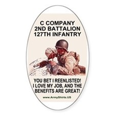 ARNG-127th-Infantry-C-Co-Reenlistme Decal