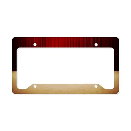 Stage curtains License Plate Holder