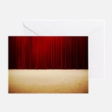 Stage curtains Greeting Card