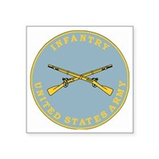 "Army-Infantry-Branch-Plaque Square Sticker 3"" x 3"""