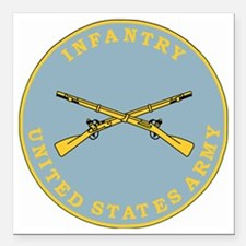 """Army-Infantry-Branch-Pla Square Car Magnet 3"""" x 3"""""""